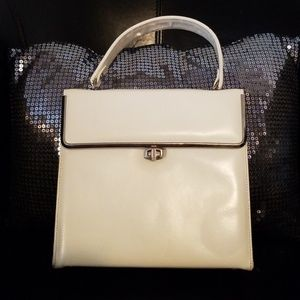 Caprice Vintage 50's Off White Top Handle Square